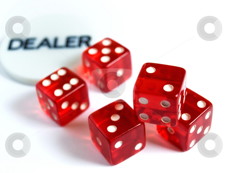 Risk dealer stock photo, Conceptual image represent occupations or career in gambling or risk in  investment world. by Sinisa Botas