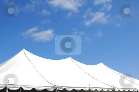 Tent stock photo, Large tent for big outdoor events by Mark Winfrey