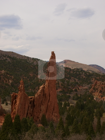 Red Rock Formation stock photo, Color image of a red rock formation in Garden of The Gods park Colorado. by Michael Rice