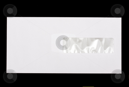 Envelope stock photo, Envelope isolated on black background by Ingvar Bjork