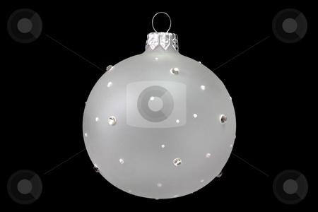 Chrismas tree decoration stock photo, Christmas tree decoration ball isolated on black background by Birgit Reitz-Hofmann
