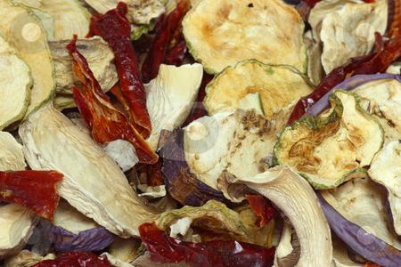 Dried vegeables stock photo, Close up from dried vegeatbles as background by Birgit Reitz-Hofmann