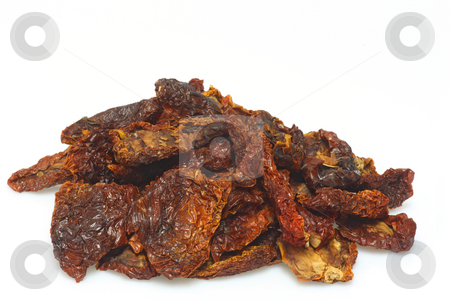Dried tomatoes stock photo, Close up from dried tomatoes on bright  background by Birgit Reitz-Hofmann