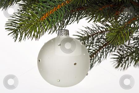 Chrismas ball stock photo, Decorative chrismas ball on bright background by Birgit Reitz-Hofmann