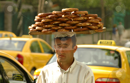 Bagel seller stock photo, Bagel seller in the streets of Ankara by Kobby Dagan
