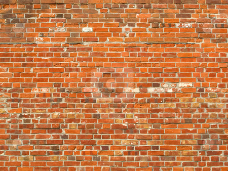 Colorful old brick wall background. stock photo, Colorful old brick wall background. by Stephen Rees