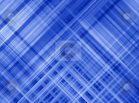 Blue diagonal lines grid pattern abstract background. stock photo, Blue diagonal lines grid pattern abstract background. by Stephen Rees