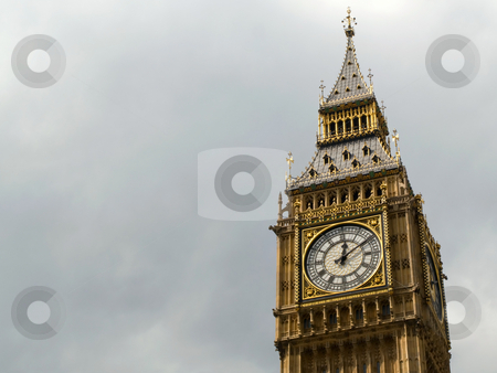 Big Ben and a gloomy grey sky. stock photo, Big Ben and a gloomy grey sky. by Stephen Rees