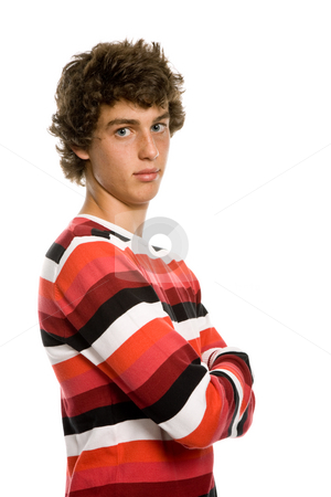 Young man stock photo, Casual young man portrait, isolated on white by Rui Vale de Sousa