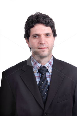 Caucasian stock photo, Young business man portrait in white background by Rui Vale de Sousa