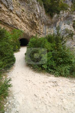 Wanderweg/Trail am Verdon, Verdonschlucht, Gorges du Verdon, Grand Canyon du Verdon stock photo, Urlaub Frankreich 2008 by Wolfgang Heidasch