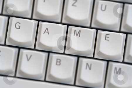 Keyboard: Game stock photo, Keyboard: Game by Wolfgang Heidasch
