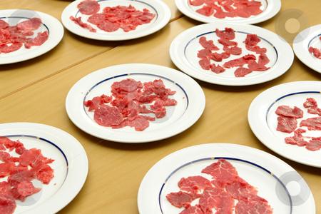 Carpaccio nur Fleisch stock photo,  by Wolfgang Heidasch