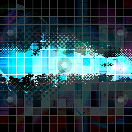 Splatter Halftone Template stock photo, An abstract paint splatter background texture with lots of copy space. by Todd Arena