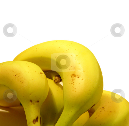 Bananas on white stock photo,  by Kirsty Pargeter