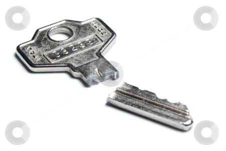 Broken key stock photo, Broken key isolated on white backround by Gjermund Alsos