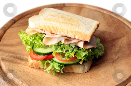 Ham and turkey sandwich stock photo,  by Jan Martin Will