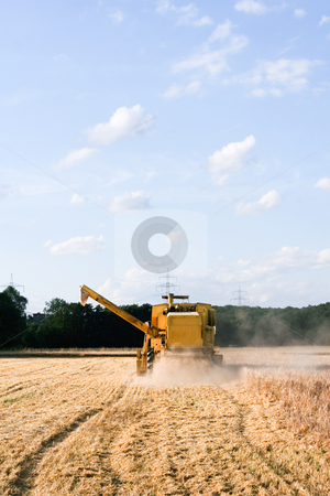 Farming equipment in field stock photo,  by Jan Martin Will