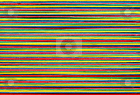 Stretched color elastic bands stock photo, Stretched color elastic bands by Stephen Rees