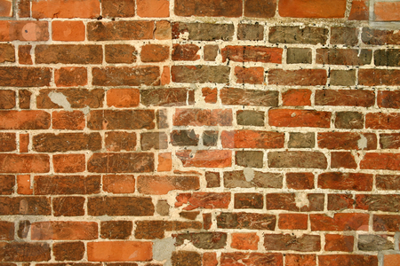 Two brick walls merge stock photo, Two brick walls merge by Stephen Rees