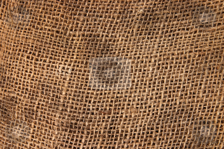 Brown sack cloth material close up background. stock photo, Brown sack cloth material close up background. by Stephen Rees