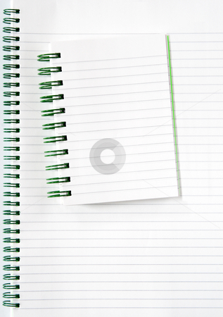 Two spiral notebooks. stock photo, Two spiral notebooks. by Stephen Rees