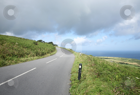 A country road, the B3306, in Penwith, Cornwall, UK stock photo, A country road, the B3306, in Penwith, Cornwall, UK by Stephen Rees