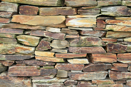 Loose stacked stone wall. stock photo, Loose stacked stone wall. by Stephen Rees
