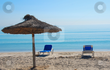 Mallorca stock photo, Relax on the sunny beach on the island mallorca by Wolfgang Zintl