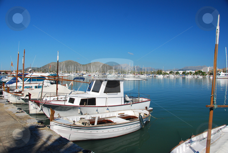 Mallorca stock photo, Boats in the habor of mallorca by Wolfgang Zintl