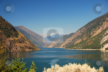 Mountain lake stock photo, Mountain lake in canada british columbia by Wolfgang Zintl