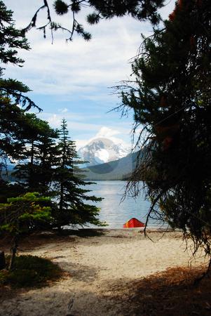 Mountain lake stock photo, A mountain Lake in Canada British columbia by Wolfgang Zintl