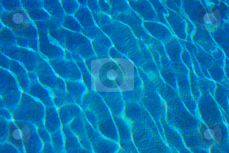 Blue water stock photo, Blue water surface with ripples by Wolfgang Zintl