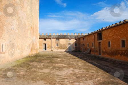 Old castle stock photo, Old castle in summer on the island majorca spain by Wolfgang Zintl