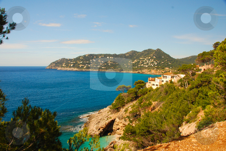 Mallorca stock photo, Coast line of the island mallorca spain by Wolfgang Zintl