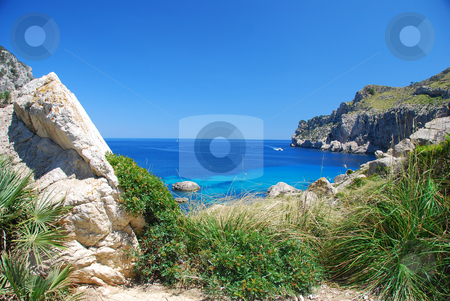 Mallorca stock photo, Beautiful bay on the island mallorca spain by Wolfgang Zintl