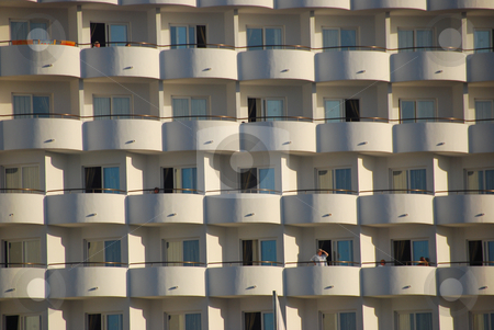 Appartment building stock photo, Appartment building in the morning light in mallorca by Wolfgang Zintl