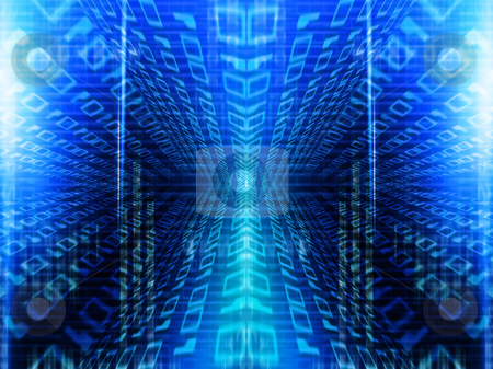 Binary tunnel stock photo, Abstract binary code background by Kirsty Pargeter