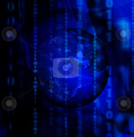 Binary abstract stock photo, Abstract binary code background by Kirsty Pargeter