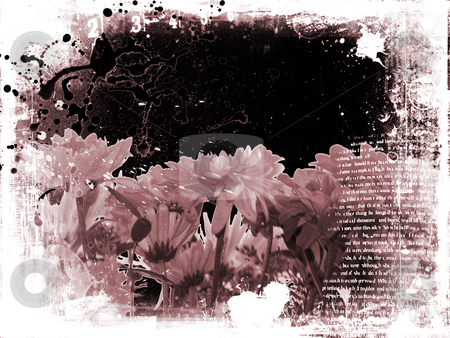 Floral grunge stock photo, Grungey and messy floral background by Kirsty Pargeter