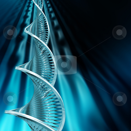 DNA Abstract stock photo, DNA strands on abstract background by Kirsty Pargeter