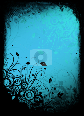 Floral grunge stock photo, Floral design on grunge style background by Kirsty Pargeter