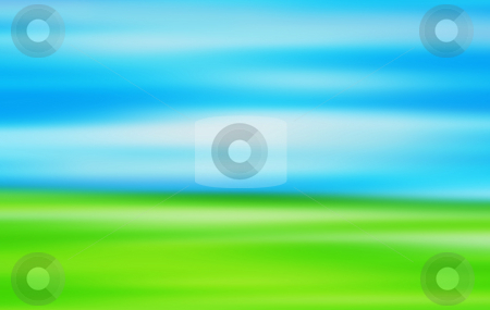 Abstract landscape stock photo, Abstract blur background of a landscape of sky and grass by Kirsty Pargeter