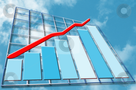 Rising profits stock photo, Background showing chart of rising profits by Kirsty Pargeter