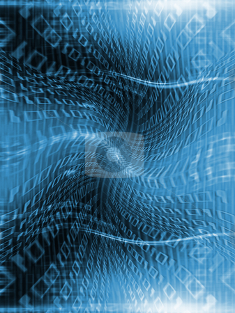 Binary flow stock photo, Abstract binary code background by Kirsty Pargeter