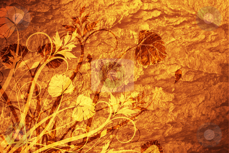 Floral grunge stock photo, Floral grunge background by Kirsty Pargeter