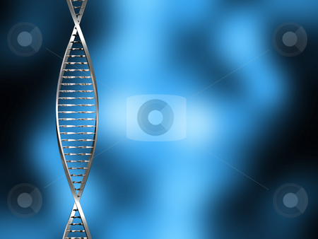 DNA abstract stock photo, DNA strands on blur background by Kirsty Pargeter