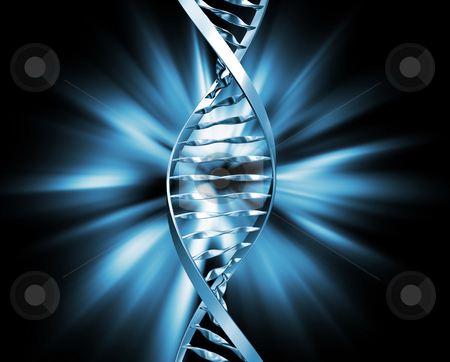 DNA abstract stock photo, 3D render of DNA strands on abstract background by Kirsty Pargeter