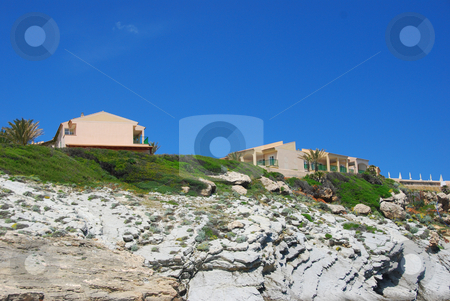 Mallorca stock photo, Houses on the beach of the island mallorca by Wolfgang Zintl