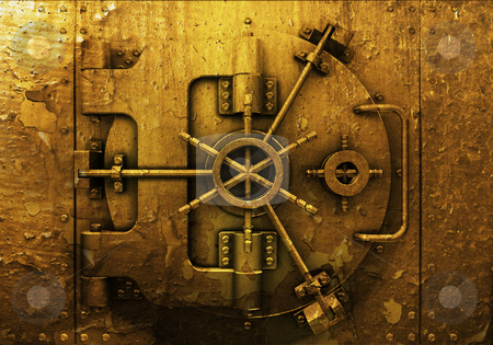 Grunge bank vault stock photo, Grunge style bank vault background by Kirsty Pargeter